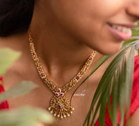AD petal necklace set - Anicha