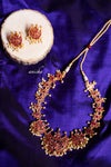 Ruby moon necklace set - Anicha