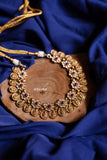 Stone coin necklace set - Gold - Anicha