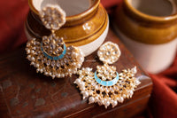 Kundan enamel chandbalis (Colours available) - Anicha