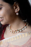 AD Navratna necklace set - Anicha