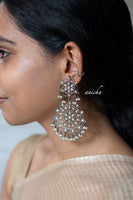 Black oxidized silver filigree earrings - Anicha