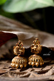Gold peacock short haram set - Anicha