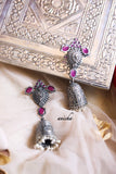 German silver bell jhumkas (Colours available) - Anicha
