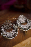 Black oxidized silver chandbalis - Anicha