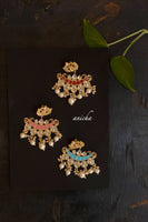Chand enamel earrings (Colours available) - Anicha
