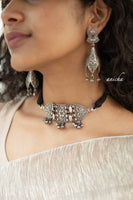 German silver thread choker set