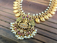 Gold lakshmi paisley necklace set - anicha
