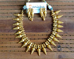 Contemporary spikes necklace set - Anicha