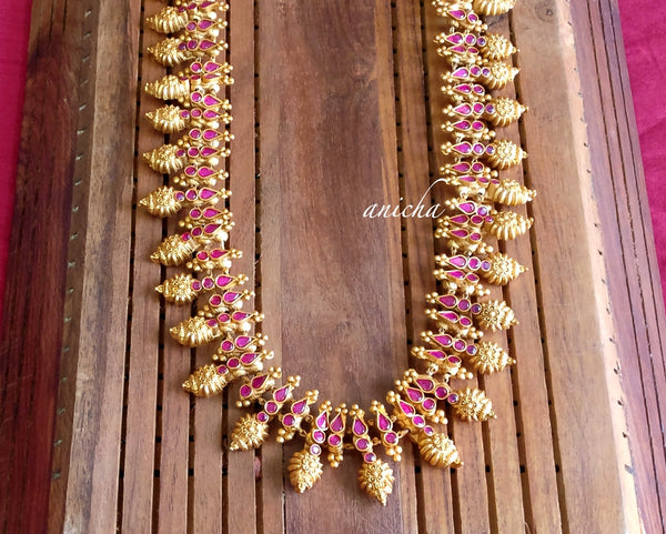 Antique ruby haram set - anicha