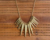 Gold spikes necklace - Anicha