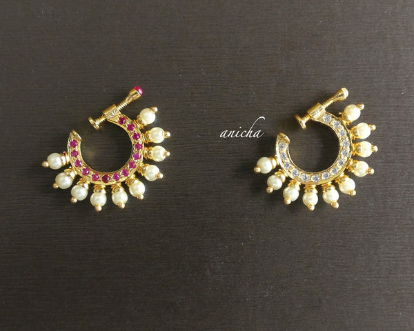 Stone nose rings (Colours available) - Anicha