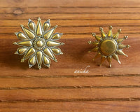 Antique gold chakra rings - Anicha