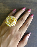 Gold ghungru rings - Anicha