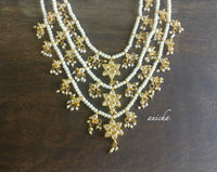 Three layer pearl Kundan necklace - anicha