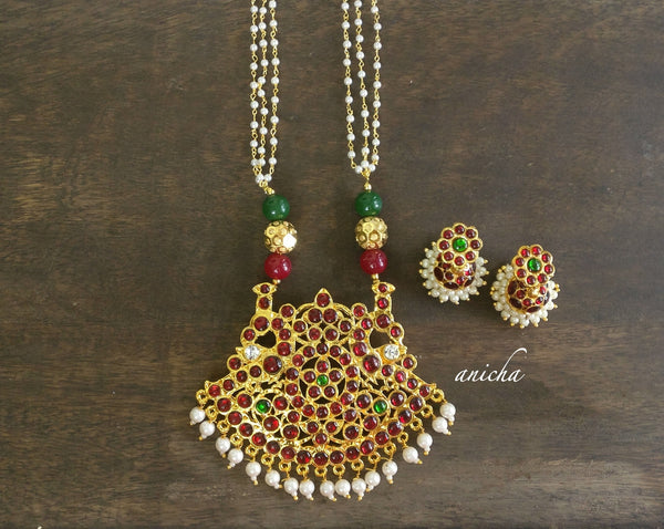 Kemp pendant long necklace set - anicha