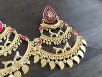 Dull gold chandelier earrings - Anicha