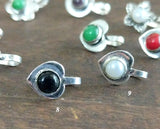 Oxidized silver nose pins - Anicha