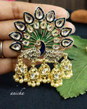 Peacock jhumka earrings - Anicha