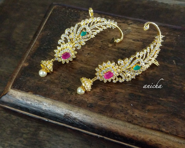 Festive AD cuff earrings 2 - Anicha