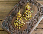 Ruby flower temple earrings - Anicha