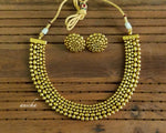 Simple gold necklace set - Anicha