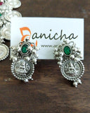 Silver coin necklace set - Anicha