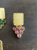 Matte gold grape earrings - Anicha