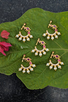White-ruby bird nose ring - Anicha