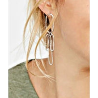 Tibetan silver bar drop earrings - Anicha