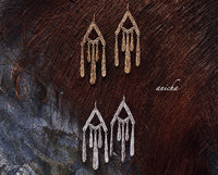 Tibetan silver dangle earrings - Anicha