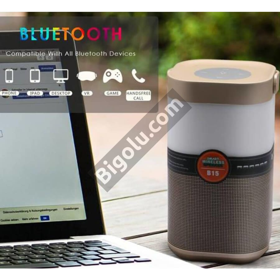Multi-color smart Bluetooth speaker