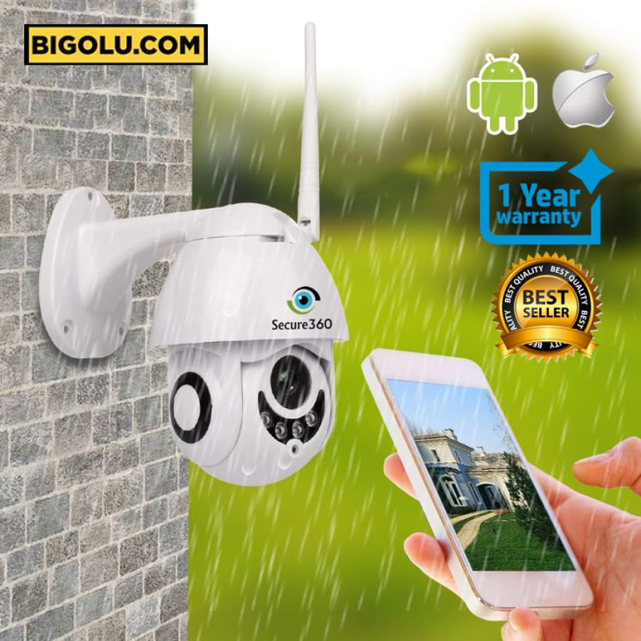 Secure360 PTZ Smart Outdoor Wifi Camera