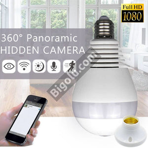 V380 Panoramic Bulb Wifi Camera