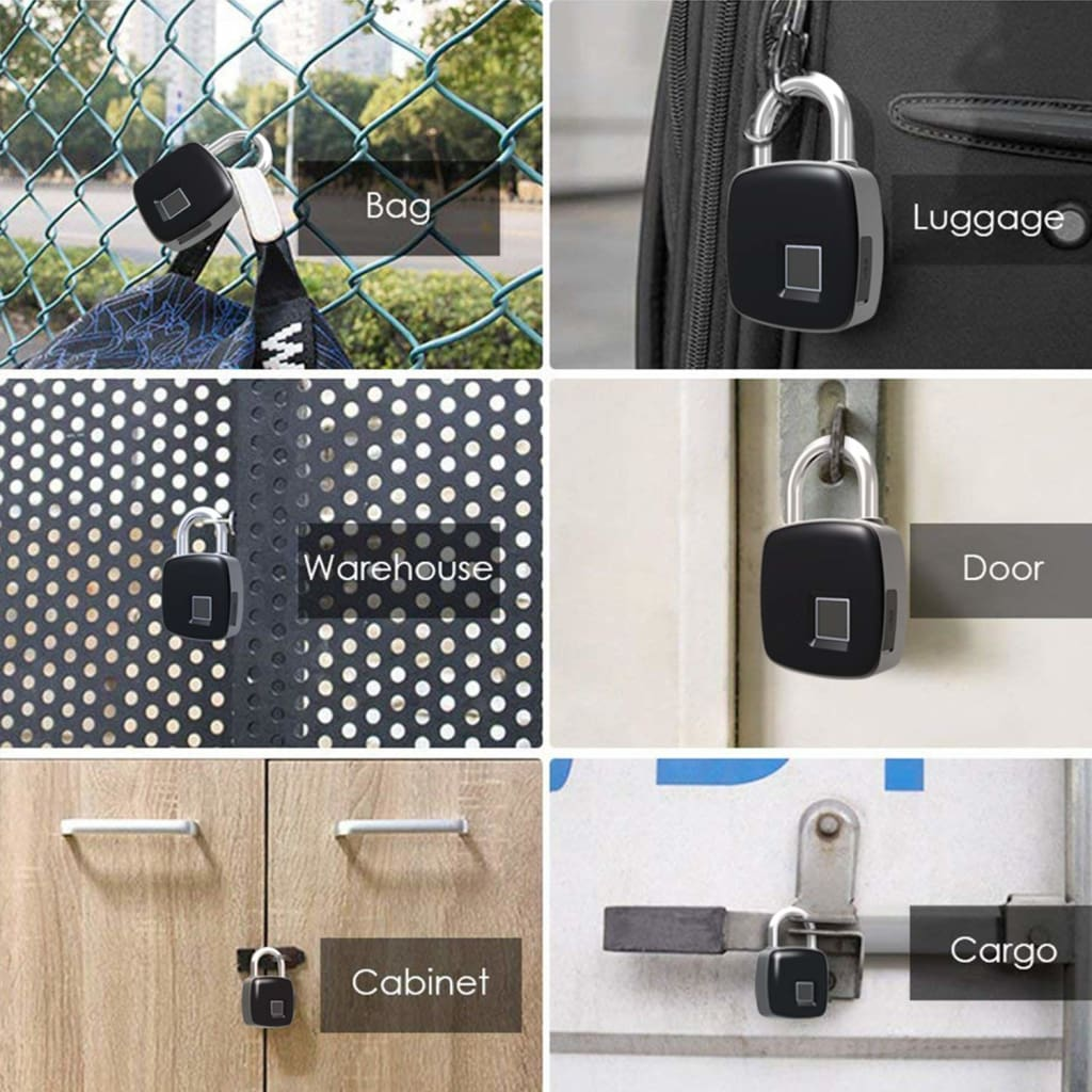 Smart Fingerprint Padlock IP65