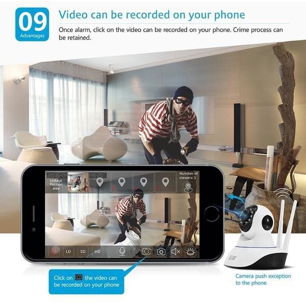Secure360 Wireless HD CCTV WiFi IP Camera android iPhone ios