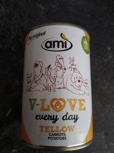 Hundefuttertest - Ami Dog - V-Love - Yellow