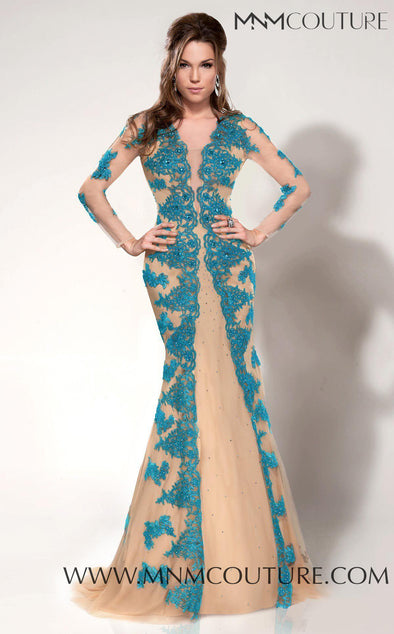 Style 9582-MNM COUTURE-4/36-NUDE/BLUE-onlinemarkat