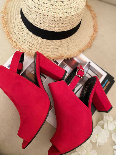 Red Comfortable Sandal - SH110-shoes-onlinemarkat-onlinemarkat