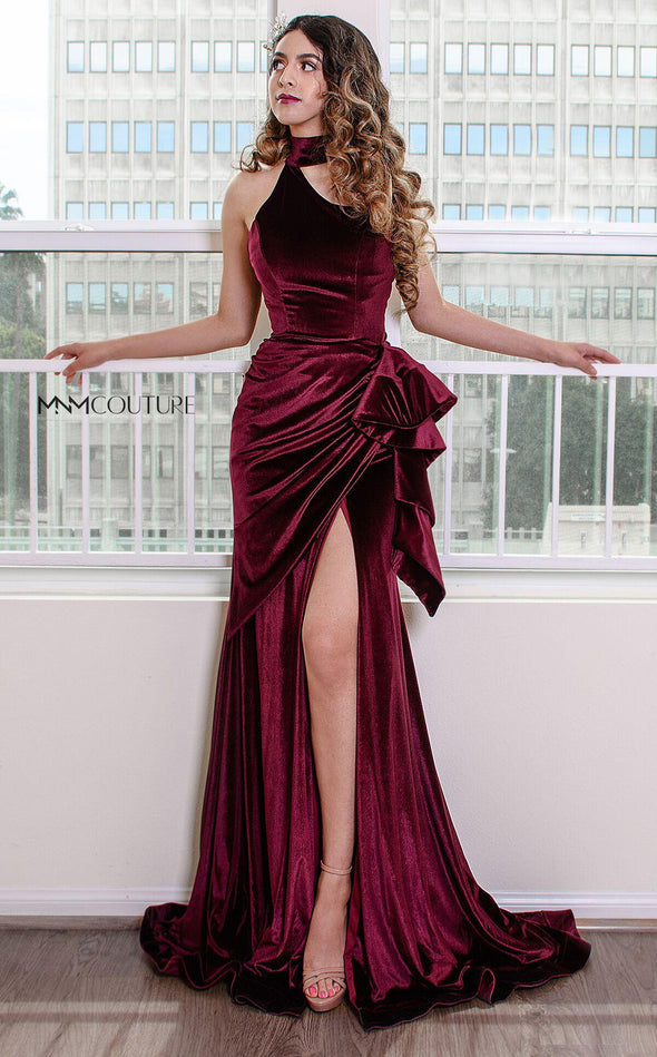 Style L0038-MNM COUTURE-XS-BURGUNDY-onlinemarkat