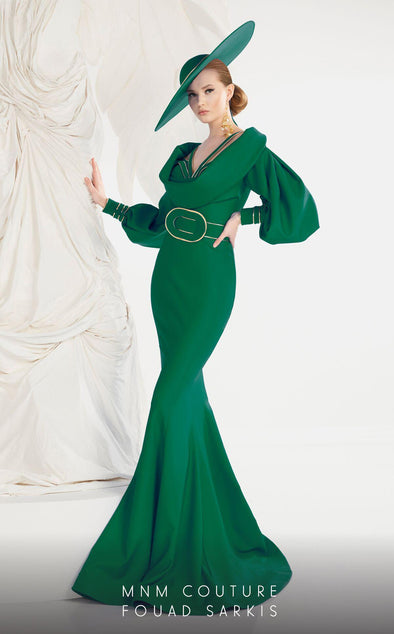 Style 2572-Fouad Sarkis-4/36-EMERALD GREEN-onlinemarkat
