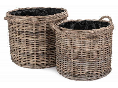Kubu Grey Rattan - Planters/With Rope Details/Handles