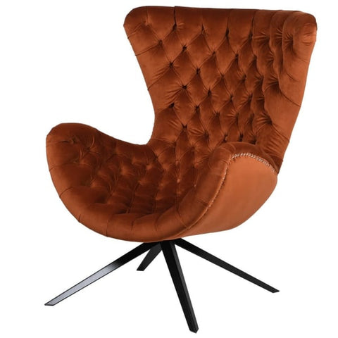 Designer Curved Club Chair
