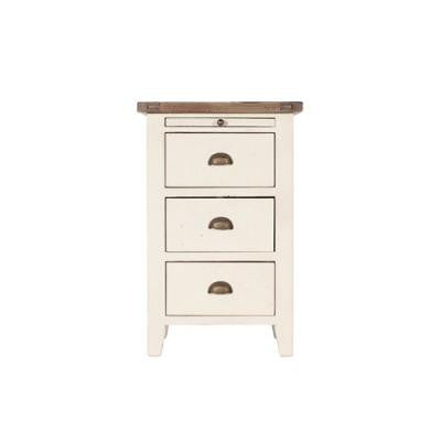 New England 3 Drawer Bedside Table