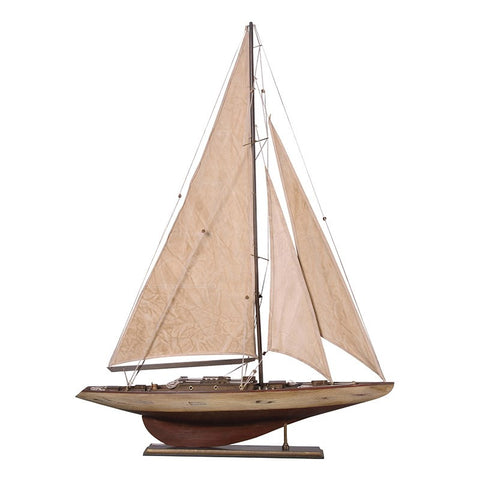Antique Cream Sails Yacht - Unique Gifts & Interiors
