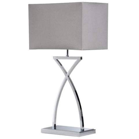 Cross Stem Table Lamp With Shade
