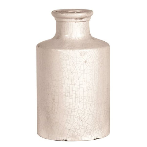 Distressed Crackle Glazed Ceramic Vase