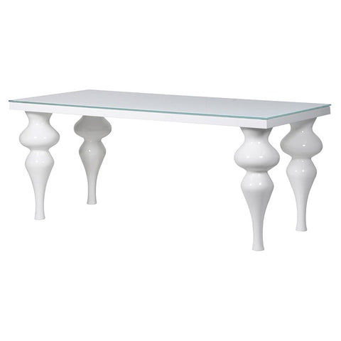 Small modern high gloss dining table