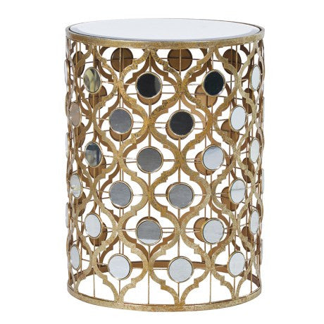Gold Mirrored Side Table - Unique Gifts & Interiors