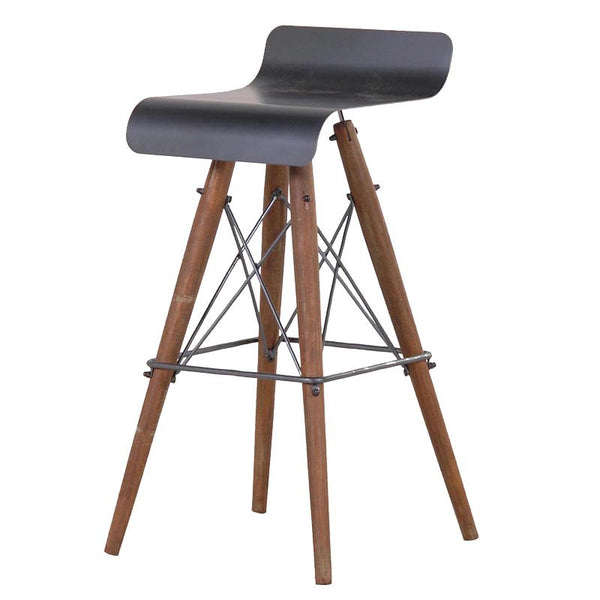 Industrial look metal bar stool - Unique Gifts & Interiors